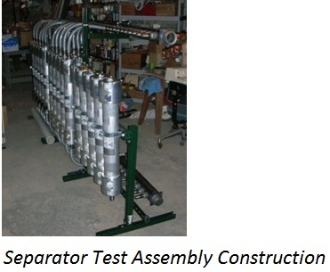 Separator Test Assembly Construction